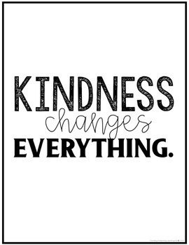 Printer Friendly Kindness Posters