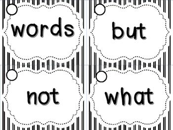 Printer Friendly Sight Word Rings