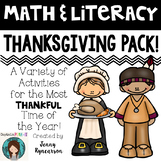 Printer-Friendly Thanksgiving Pack! Math AND Literacy Acti
