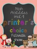 Printer´s choice - fairy tale themed math activities