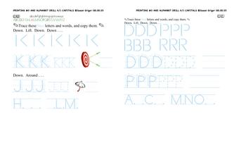 Printing #3 K-1 CAPS alphabeting
