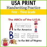 Printing Handwriting Practice - USA