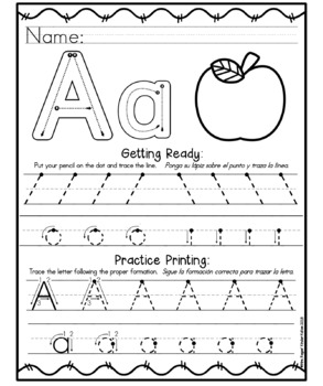 Printing Line Strokes Posters and Aa-Zz Printing Worksheets