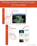 Printing Multiple Powerpoint Slides on One Sheet