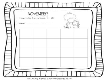 Printing Numbers 1 - 20 November