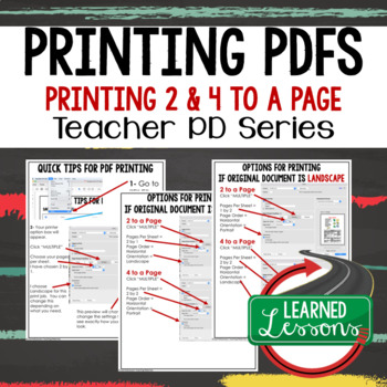 Printing PDFs TpT Buyers and Sellers Tips, Instructions Teacher PD Series