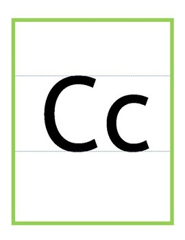 Alphabet Display Handwriting Posters / Classroom Display / Lowercase & Uppercase