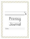 Printing Practice Book: 35 weeks of printing!!