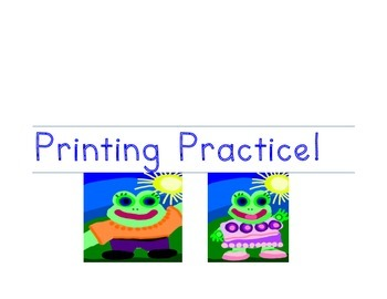 Printing Practice Book Cover