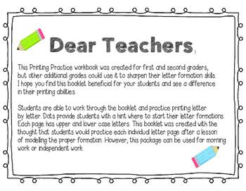 Printing Practice Booklet