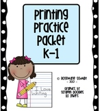 Printing Practice Packet K-1