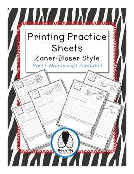 Printing Practice Pages - Zaner-Bloser Manuscript