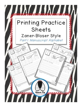 Printing Practice Pages - Zaner-Bloser Manuscript