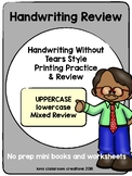 Printing Practice & Review (Reinforcing Handwriting Without Tears Style Writing)