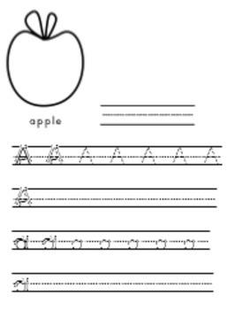 Printing Practice Worksheets or Workbook