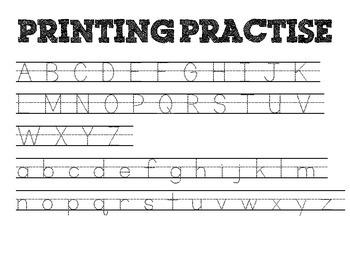 Printing Practise Worksheets