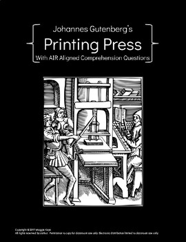 Printing Press Articles with AIR aligned questions