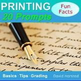 Handwriting Practice - Printing Practice