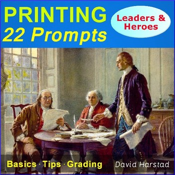 Printing Prompts | 22 Printable Handwriting Worksheets | Leaders & Heroes