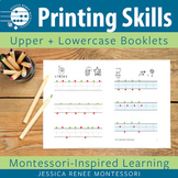 Printing Skills Booklets Capital and Lowercase Letters (Easy Assembly)