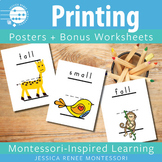 Printing Posters for Correct Lowercase Letter Formation + Bonus Worksheets