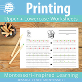 Printing Worksheets for Uppercase and Lowercase Letter Formation Practice