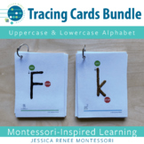 Printing Tracing Cards: Uppercase and Lowercase Alphabet Bundle