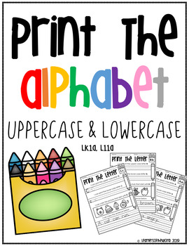 Printing Uppercase and Lowercase Letters Worksheets - L.K.1.A, L.1.1.A