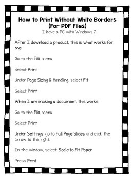 Printing a PDF Without White Borders