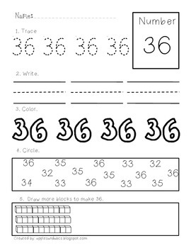 Printing and Recognizing Numbers 21-50
