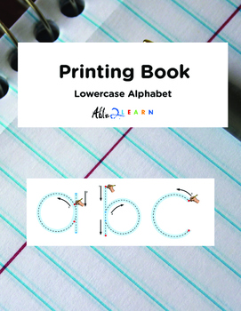 Printing book: Lowercase Alphabet