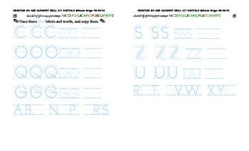 Printing3 K-1 Alphabetizing and Drill CAPS