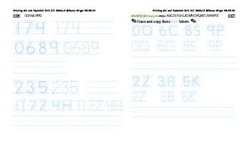 Printing4 K-1 Alphabetizing and smalls