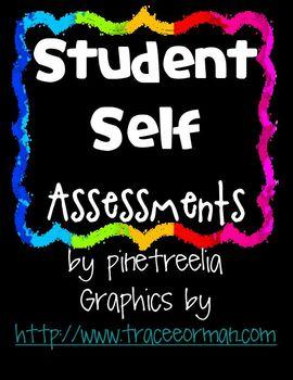 Printing/Coloring Writing Student Self Assessment