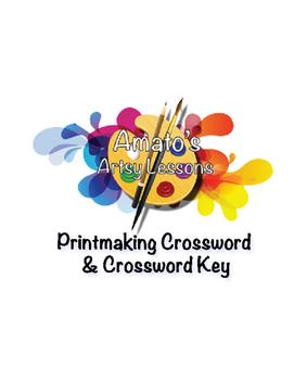 Printmaking Crossword