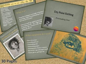 Printmaking - Dry Point Etching