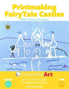 Printmaking Fairy Tale Castles