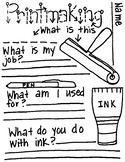 Printmaking Note Taking Worksheet