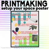 Printmaking Setup your Space Poster