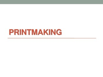 Printmaking made easy!