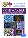 Printmaking with Craft Foam: Bundle of 7 Art Lessons for Grades 3-7