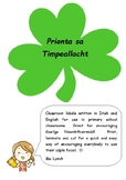 Prionta sa Timpeallacht - Classroom Labels (Gaeilge/Irish and English)