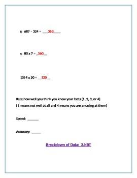 Prior Knowledge Pretest on 3.NBT
