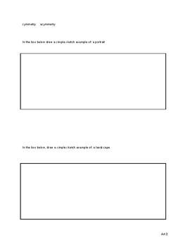 Prior Knowledge Quiz- Middle School Visual Arts