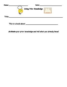 Prior Knowledge Response Page 1