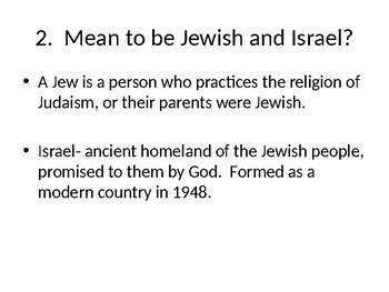 Prior knowledge Jews