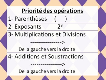 Priorité des opérations mathématiques