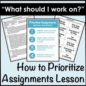 Prioritize Assignments Lesson