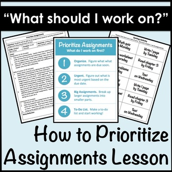 How To Prioritize Assignments Lesson