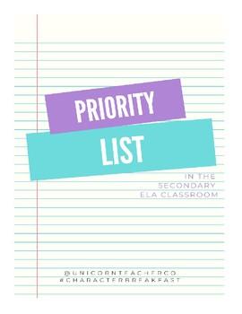 Priority List - Character Breakfast